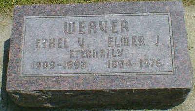 WEAVER, ELMER J. - Cerro Gordo County, Iowa | ELMER J. WEAVER