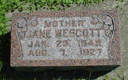 WESTCOTT, JANE - Cerro Gordo County, Iowa   JANE WESTCOTT
