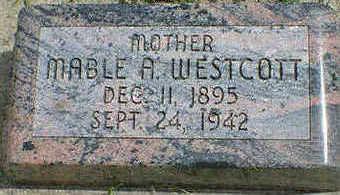 WESTCOTT, MABLE A. - Cerro Gordo County, Iowa | MABLE A. WESTCOTT
