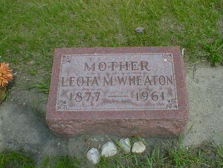 WHEATON, LEOTA M. - Cerro Gordo County, Iowa | LEOTA M. WHEATON