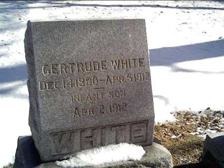 WHITE, GERTRUDE - Cerro Gordo County, Iowa | GERTRUDE WHITE
