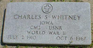 WHITNEY, CHARLES S. - Cerro Gordo County, Iowa   CHARLES S. WHITNEY