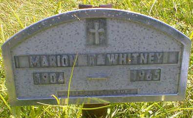 WHITNEY, MARION T. - Cerro Gordo County, Iowa | MARION T. WHITNEY