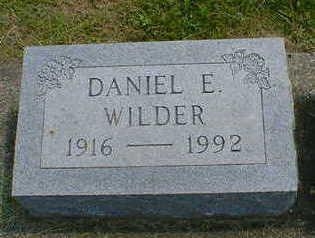 WILDER, DANIEL E. - Cerro Gordo County, Iowa | DANIEL E. WILDER