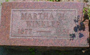 WINKLER, MARTHA H. - Cerro Gordo County, Iowa | MARTHA H. WINKLER