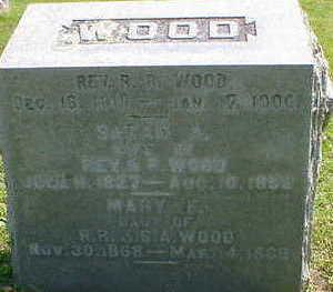 WOOD, REV. R. R. - Cerro Gordo County, Iowa | REV. R. R. WOOD