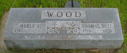 WOOD, THOMAS DUFF - Cerro Gordo County, Iowa | THOMAS DUFF WOOD