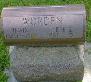 WORDEN, EFFIE - Cerro Gordo County, Iowa   EFFIE WORDEN