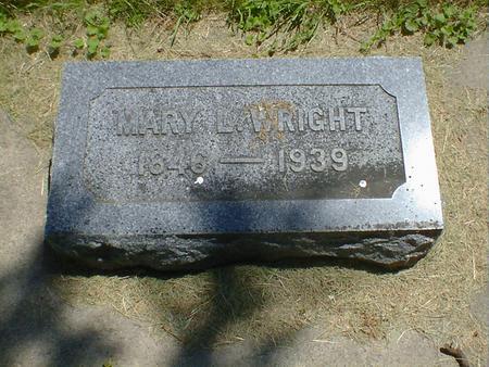 WRIGHT, MARY L. - Cerro Gordo County, Iowa | MARY L. WRIGHT
