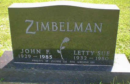 ZIMBELMAN, JOHN F. - Cerro Gordo County, Iowa   JOHN F. ZIMBELMAN
