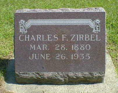 ZIRBEL, CHARLES F. - Cerro Gordo County, Iowa   CHARLES F. ZIRBEL
