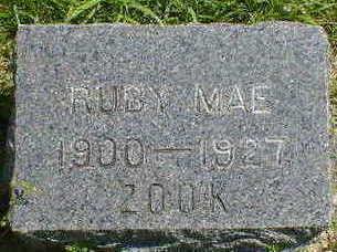 ZOOK, RUBY MAE - Cerro Gordo County, Iowa   RUBY MAE ZOOK