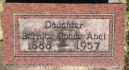 ROHDE ABEL, BERNICE - Cherokee County, Iowa | BERNICE ROHDE ABEL