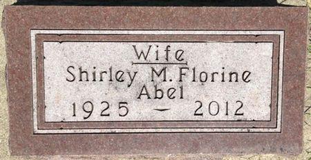 FLORINE ABEL, SHIRLEY M. - Cherokee County, Iowa   SHIRLEY M. FLORINE ABEL