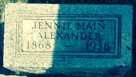 MAIN ALEXANDER, JENNIE - Cherokee County, Iowa   JENNIE MAIN ALEXANDER