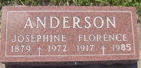 ANDERSON, JOSEPHINE - Cherokee County, Iowa   JOSEPHINE ANDERSON
