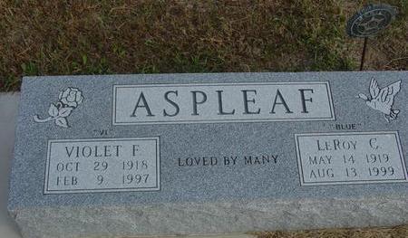 ASPLEAF, LEROY & VIOLET - Cherokee County, Iowa   LEROY & VIOLET ASPLEAF