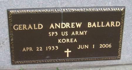 BALLARD, GERALD ANDREW - Cherokee County, Iowa | GERALD ANDREW BALLARD
