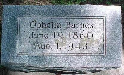 BARNES, OPHELIA - Cherokee County, Iowa   OPHELIA BARNES