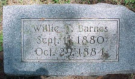 BARNES, WILLIE T. - Cherokee County, Iowa | WILLIE T. BARNES