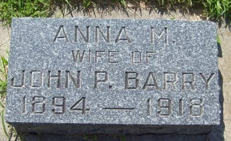 BARRY, ANNA M. - Cherokee County, Iowa   ANNA M. BARRY