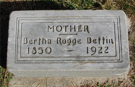 ROGGE BETTIN, BERTHA - Cherokee County, Iowa | BERTHA ROGGE BETTIN