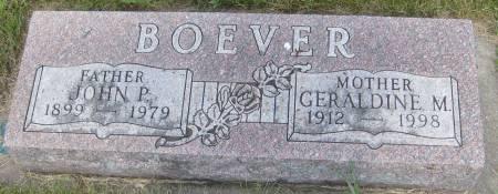 BOEVER, JOHN P. - Cherokee County, Iowa   JOHN P. BOEVER
