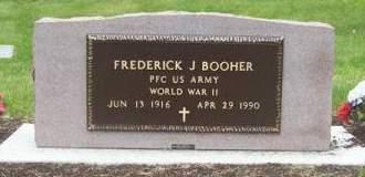 BOOHER, FREDERICK J - Cherokee County, Iowa   FREDERICK J BOOHER