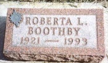BOOTHBY, ROBERTA L. - Cherokee County, Iowa   ROBERTA L. BOOTHBY
