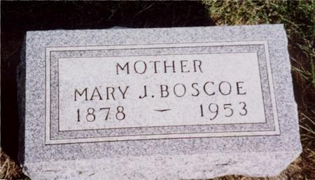 BOSCOE, MARY J. - Cherokee County, Iowa | MARY J. BOSCOE