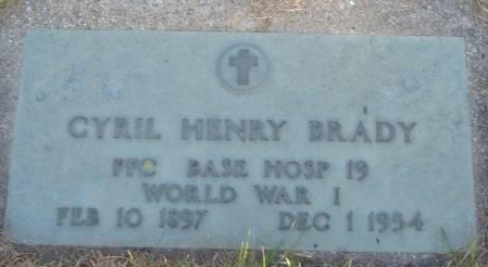 BRADY, CYRIL HENRY - Cherokee County, Iowa | CYRIL HENRY BRADY