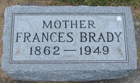 BRADY, FRANCES - Cherokee County, Iowa   FRANCES BRADY