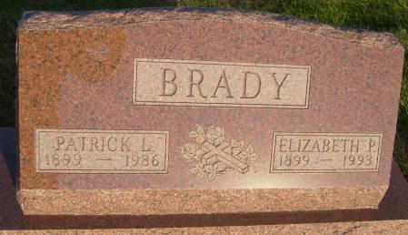 BRADY, ELIZABETH P. - Cherokee County, Iowa | ELIZABETH P. BRADY