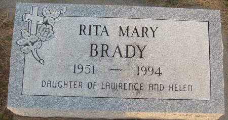 BRADY, RITA MARY - Cherokee County, Iowa   RITA MARY BRADY