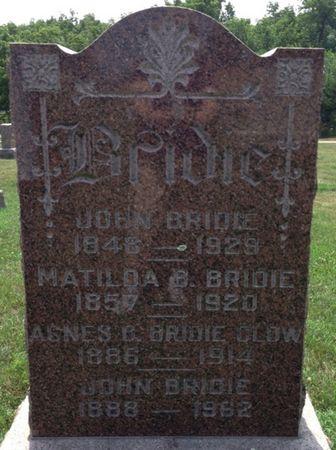 BRIDIE CLOW, AGNES C. - Cherokee County, Iowa | AGNES C. BRIDIE CLOW