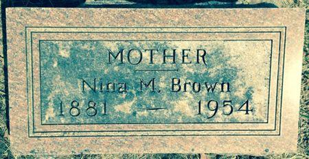 BROWN, NINA M. - Cherokee County, Iowa   NINA M. BROWN