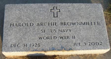 BROWNMILLER, HAROLD ARCHIE - Cherokee County, Iowa   HAROLD ARCHIE BROWNMILLER