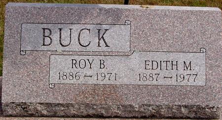BUCK, ROY B. & EDITH M. - Cherokee County, Iowa | ROY B. & EDITH M. BUCK
