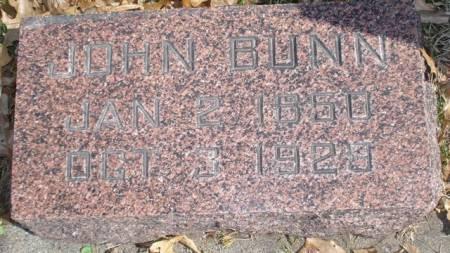 BUNN, JOHN - Cherokee County, Iowa   JOHN BUNN