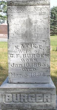 BURGER, KATIE E. - Cherokee County, Iowa | KATIE E. BURGER