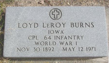 BURNS, LOYD LEROY - Cherokee County, Iowa   LOYD LEROY BURNS