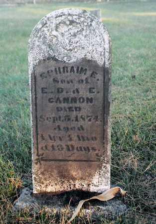 CANNON, EPHRAIM E. - Cherokee County, Iowa | EPHRAIM E. CANNON