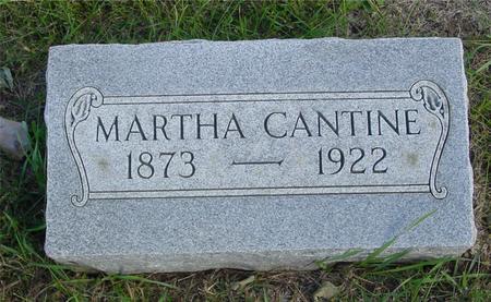CANTINE, MARTHA - Cherokee County, Iowa | MARTHA CANTINE