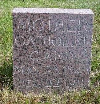 CARD, CATHOLINE - Cherokee County, Iowa | CATHOLINE CARD