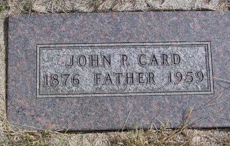 CARD, JOHN P. - Cherokee County, Iowa   JOHN P. CARD