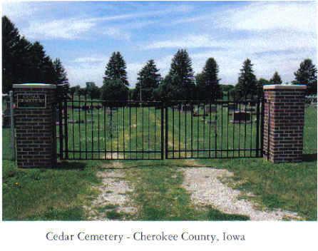 CEDAR TWP., CEMETERY - Cherokee County, Iowa | CEMETERY CEDAR TWP.