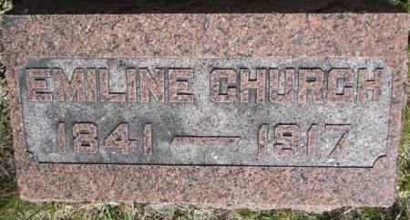 CHURCH, EMILINE - Cherokee County, Iowa | EMILINE CHURCH