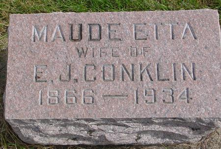 CONKLIN, MAUDE ETTA - Cherokee County, Iowa | MAUDE ETTA CONKLIN