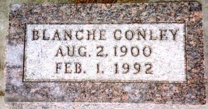 CONLEY, BLANCHE - Cherokee County, Iowa | BLANCHE CONLEY