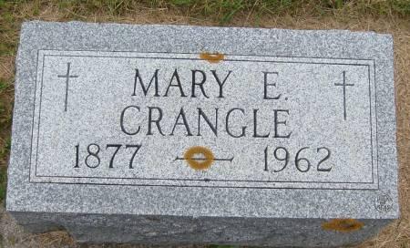CRANGLE, MARY E. - Cherokee County, Iowa   MARY E. CRANGLE